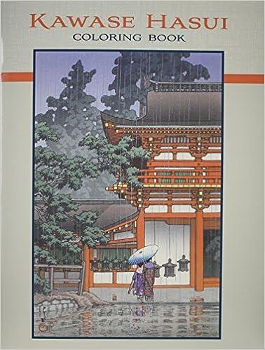 Kawase Hasui Coloring Book 0717195242695 Amazon Books