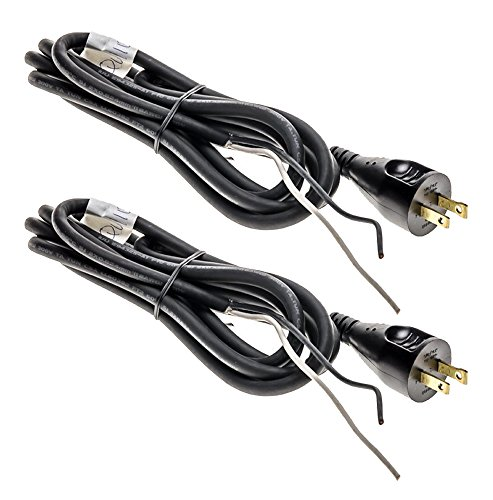 Dewalt DW130/DW411/DW303M Replacement (2 Pack) Power Cord 8'/18 Ga./2-Wire # 330072-98-2pk