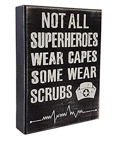 Nurses Day Gifts (JennyGems - Not All SuperHeroes Wear Capes Some Wear Scrubs - Nurse Decor - Nurse Gift - Funny Sayings for Nurses - Nurse Signs - Nurse Gifts - Nurse)