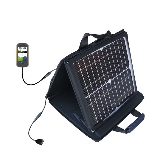 Gomadic SunVolt High Output Portable Solar Power Station designed for the Garmin Montana 600 650 650t - Can charge multiple devices with outlet speeds by Gomadic