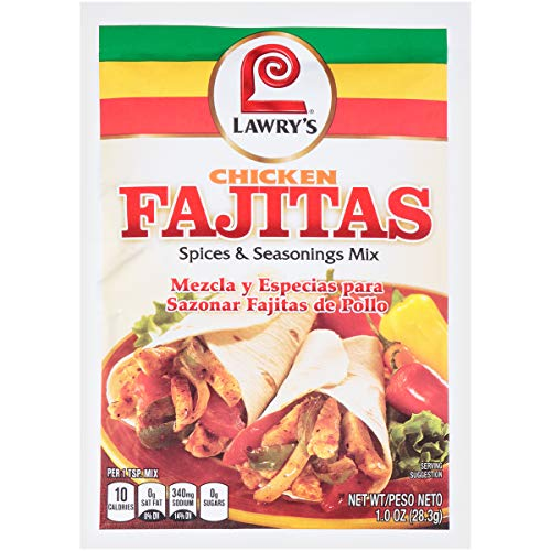 Lawry's Mix, Fajita, Chicken, 1-Ounce (Pack of 12) ()