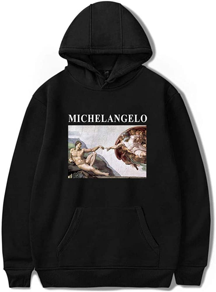 Sudadera con capucha de Michelangelo Sistina Harajuku Ulzzang Art con capucha para mujer 2020
