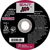 United Abrasives 6'' X .090'' X 7/8'' A60S 60 Grit Aluminum Oxide Type 1 Cut Off Wheel, 25 Each
