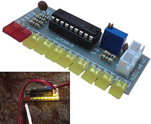 Noblik LM3915 Audio Level Indicator DIY Kit 10 Led Sound Audio Spectrum Analyzer Level Indicator Kit Electoronics Soldering