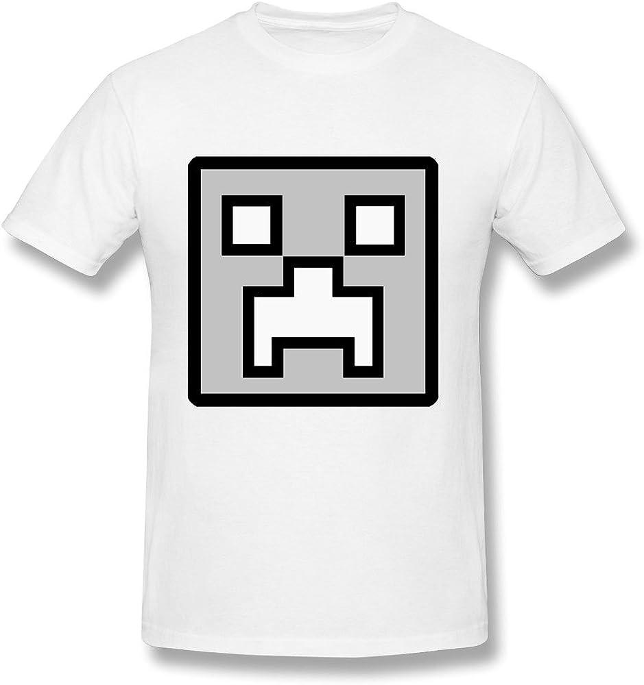 LOHUIOI Men's Icon Geometry Dash Game T-Shirt S White