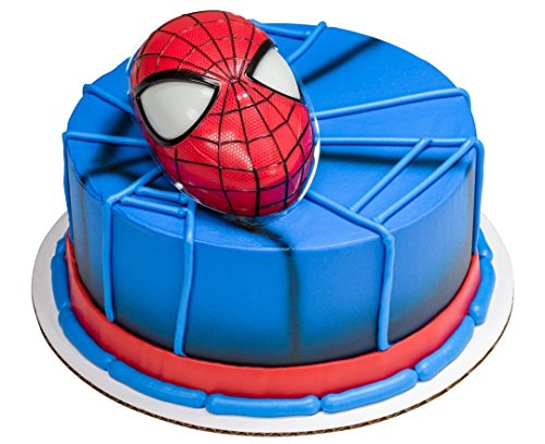Spiderman Head Cake Topper with Light Up Eyes & 12 Cupcak...