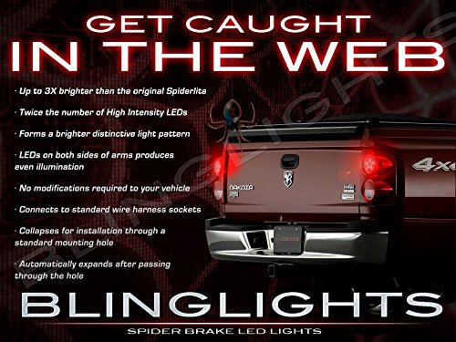 BlingLights White LED Spider Light Bulbs for Dodge Dakota ( All Years (Street Glow White Strobe Light)