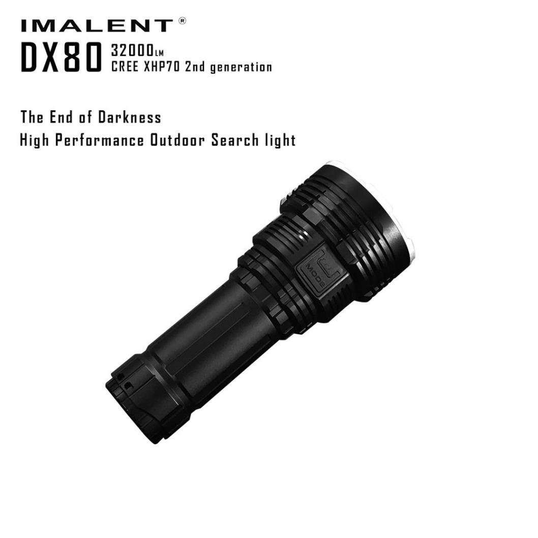 Fuibo Flashlight Outdoor Water Resistant Torch, IMALENT DX80 XHP70 LED Most Powerful Flood LED Seach Flashlight by crowzed (Image #8)