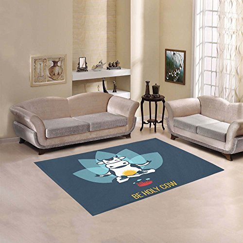 Happy More Custom Be Holy Cow Area Rug Indoor/Outdoor Decorative Floor Rug by InterestPrint