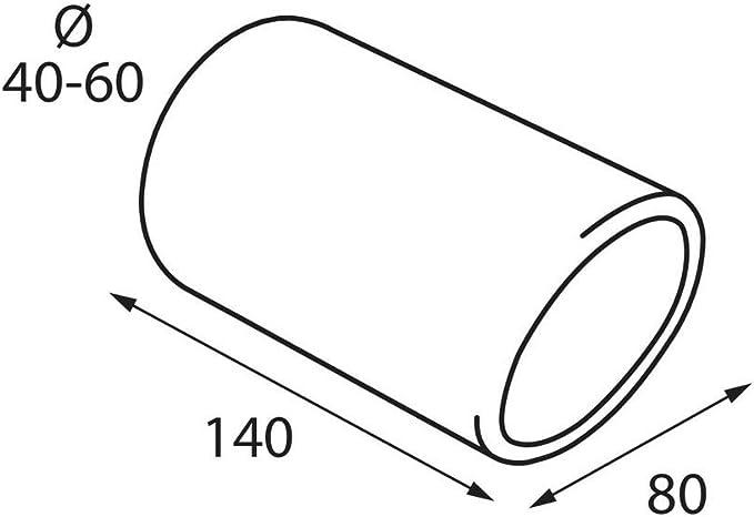 ER60025 - Acero inoxidable de tubo de escape del tubo de escape de para atornillar Embellecedor de tubos de escape universales