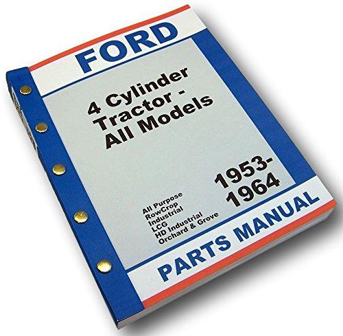 Ford Naa 600 601 700 701 800 801 900 901 Tractor Master Parts Manual Catalog