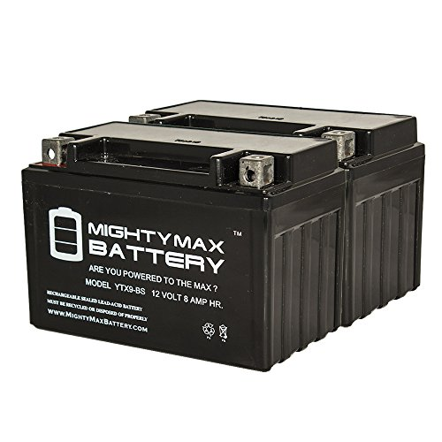 YTX9-BS Replaces Motorcycle ATV Maintance Free Battery - 2 Pack - Mighty Max Battery brand product