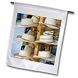 Danita Delimont - Markets - Mexico, Jalisco, Barra de Navidad. Market Hats - SA13 WBI0336 - Walter Bibikow - 12 x 18 inch Garden Flag (fl_86837_1)