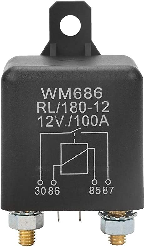 Heavy Duty Car Starter Relay DC 12V 100A 4-Pin WM686 Normal Open Heavy Duty Car Starter Relay for Control Battery ON//OFF RL//180