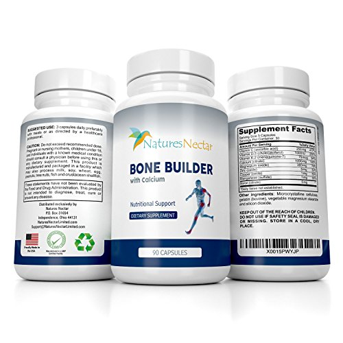 Bone Builder Joint Supplements for Women - Increased Bone Health Plus New Growth - Fights Osteoporosis - Bone Strength Formula - Organic Bone Care for Max Raw Absorption Boost - Feel New Life & Alive