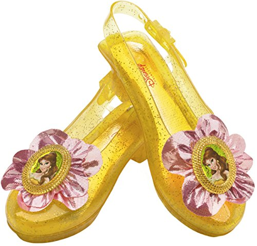 Girl Costumes Shoes (Disney Princess Beauty and The Beast Belle Sparkle Shoes One Size Child)