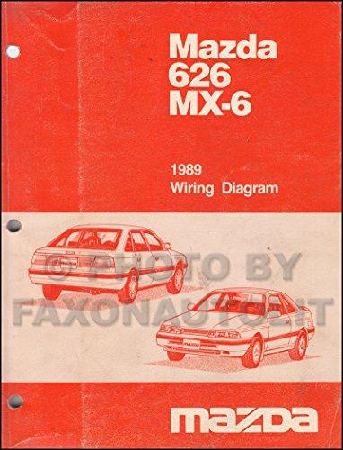 1989 Mazda 626 and MX-6 Wiring Diagram Manual Original