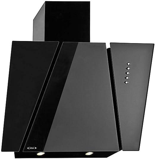 Akpo - Campana extractora wk-4 cetias negro vidrio / 60cm/ / 420m3/h - campana extractora de cocina: Amazon.es: Hogar