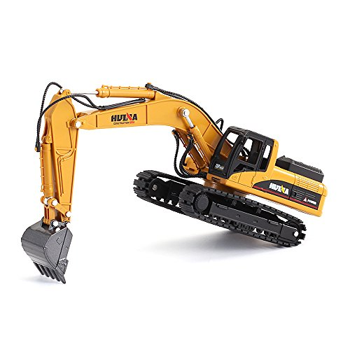 50 Diecast Vehicle (1/50 Scale Diecast Crawler Excavator Construction Vehicle Car Models Toys for Kids)