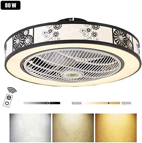 WJJH LED Moderno Ventiladores de Techo Salon con Luz,Invisible ...