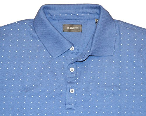 Stones Herren Poloshirt, Gepunktet blau blau Small
