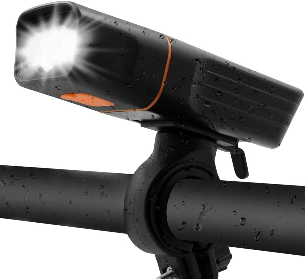Powerful Bicycle Front Head Ascher Ultra Bright USB Rechargeable Bike Light Set