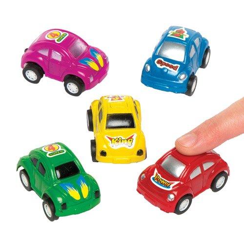 Baker Ross Macchinine a retrocarica per bambini e bambine. Piccoli giocattoli, perfetti per giocare o per sacchetti regalo per feste di bambini (confezione da 6)