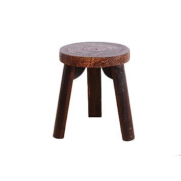Pleasing Amazon Com Wenjun Full Solid Wooden Stool Stool Childrens Dailytribune Chair Design For Home Dailytribuneorg