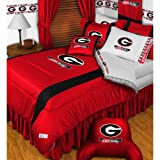 NCAA Georgia Bulldogs King Comforter Pillowcases Set College Football Team Logo Bed
