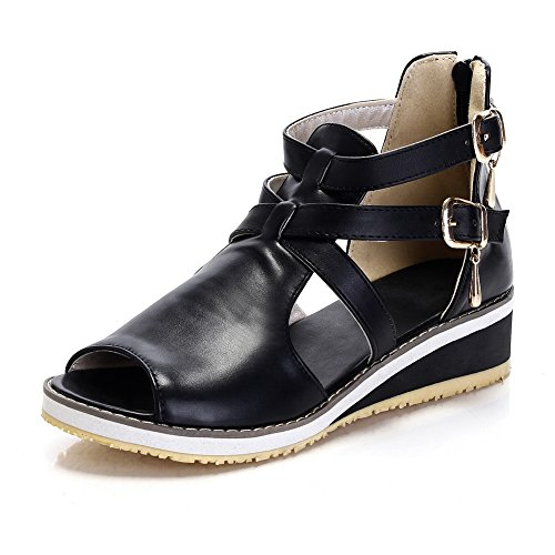 Adee , Damen Sandalen, Schwarz - schwarz - Größe: 38 EU