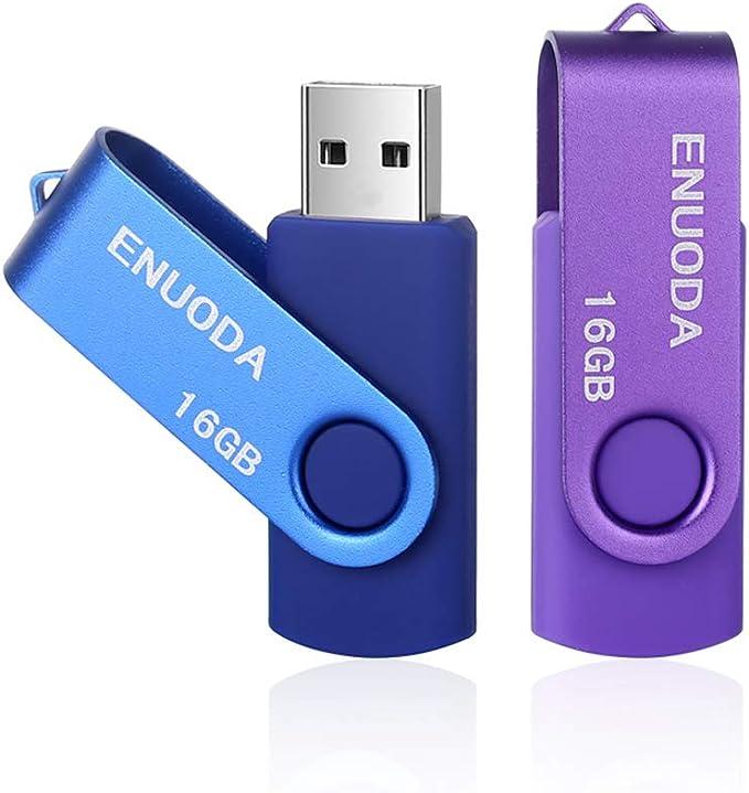 2 Stück 16gb Usb Stick Enuoda Usb 2 0 Memory Stick Computer Zubehör