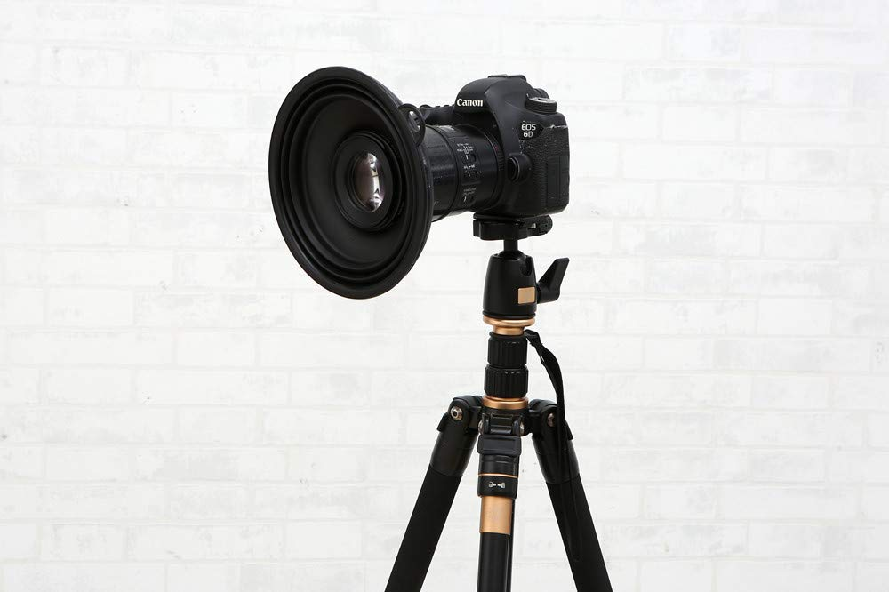 Ultimate Lens Hood Black Silicone Cone That extends Over Any Lens, Blocking Unnecessary Glare and Emission by FLUXBAG
