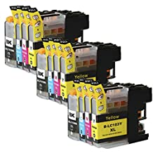 Virtual Outlet ® 12 Pack Compatible Inkjet Cartridges for Brother LC-103XL LC-103 LC-101, LC-103BK LC-103C LC-103M LC-103Y Black Cyan Magenta Yellow Compatible with Brother DCP-J132W DCP-J152W DCP-J172W DCP-J4110DW DCP-J552DW DCP-J752DW MFC-J245 MFC-J285DW MFC-J4310DW MFC-J4410DW MFC-J450DW MFC-J4510DW MFC-J4610DW MFC-J470DW MFC-J4710DW MFC-J475DW MFC-J650DW MFC-J6520DW MFC-J6720DW MFC-J6920DW MFC-J870DW MFC-J875DW