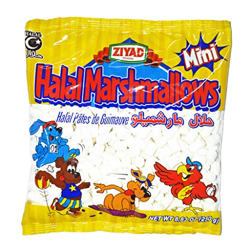 Marshmallow Eggs - Ziyad Gourmet Halal MINI Marshmallows, Egg-Free,