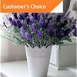 Hebel 10 Heads Lavender Flower Silk Artificial Bouquet Wedding Party Home Garden Decor   Model ARTFCL - 960   21