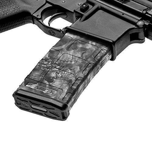 5.56 .223 Magazine Wrap Punisher Black and White