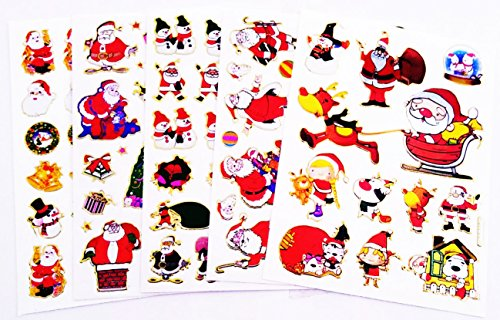 s Day & Santa Claus No.1 Sparkle Sticker-5 Sheet ()