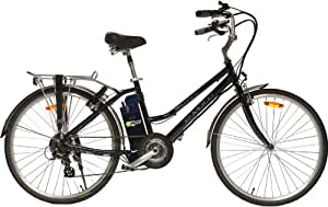 e-Moto 1.5 Velocity 26-Volt Step-Through Comfort Electric Bicycle (Navy Blue, 26-17-Inch)