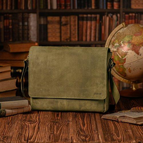 Olive buffalo Oxford leather Black LEABAGS in style messenger genuine bag vintage Hvwx4qC