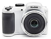 "Kodak PIXPRO AZ252 Point & Shoot Digital Camera with 3"" LCD (White) with 16GB Card and SwissGear SHERPA Large Camera Case by Kodak"