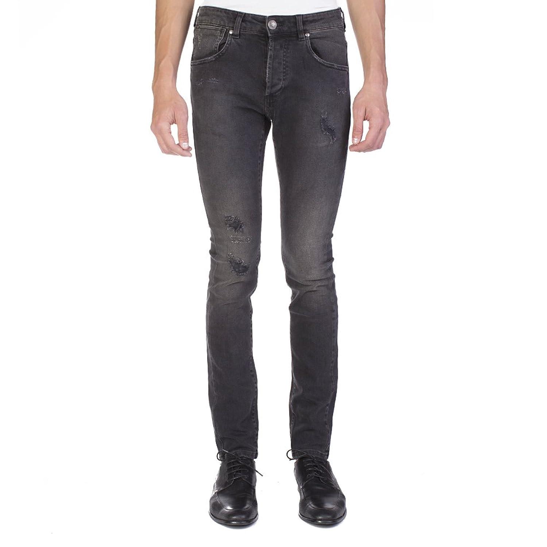 Pierre Balmain Men's Distressed Denim Jeans Pants Black B07BZ9P4BX 31