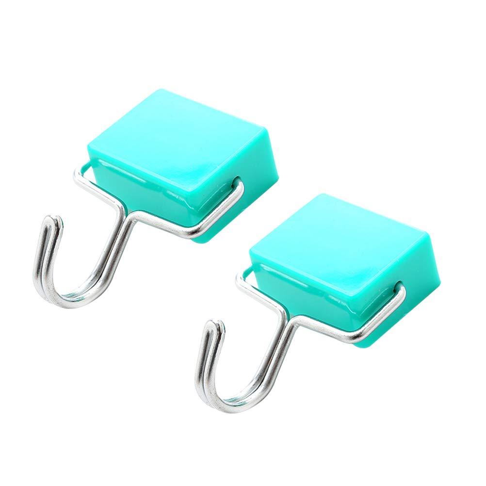 BESTONZON 2 ganci magnetici/ganci magnetici ad aspirazione super, ottimo per il tuo frigorifero e altre superfici magnetiche (blu)