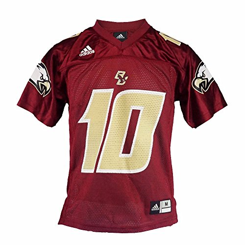 adidas Boston College Eagles NCAA Youth Red Official Home #10 Football Jersey (L)