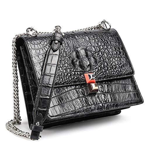chaîne Black Crocodile à Femmes bandoulière Main Cuir Fashion A à Sac Dames à Sac Sac pour Sacs Main WWAVE q84XU6c