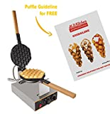 IMPROVED Puffle Waffle Maker Professional Rotated Nonstick ALD Kitchen (Grill / Oven for Cooking Puff, Hong Kong Style, Egg, QQ, Muffin, Cake Eggettes and Belgian Bubble Waffles) (220V)