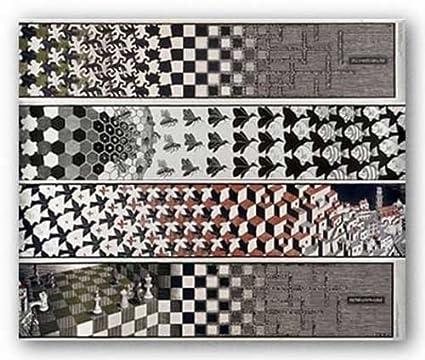 Amazoncom Metamorphosis 4 Panels By Mc Escher 85x40