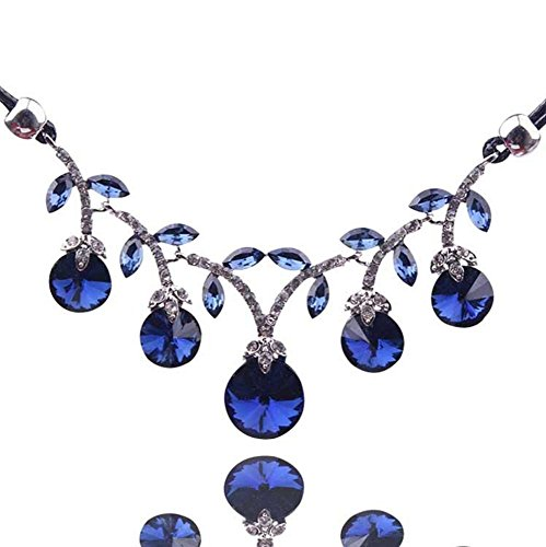 - Adorable Woman High-Grade Accessories Cherry Drops Crystal Clavicle Necklace