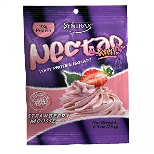 Protein Mousse (Syntrax Nectar Grab N' Go, Strawberry Mousse Powder, 26-Grams)