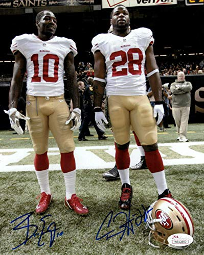 Brice Ellington & Carlos Hyde Autographed San Francisco 49ers 8x10 photo