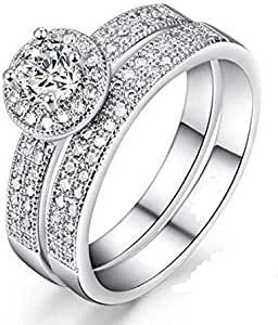 Female ring encrusted with crystals Size 8